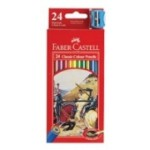 FABER CASTELL COLOURED PENCILS RED RANGE 24pc asstd