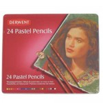 DERWENT COLOURED PASTEL PENCILS 24pc asstd