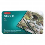 DERWENT ARTISTS COLOURED PENCILS 36pc asstd
