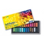 MUNGYO SOFT SQUARE PASTELS 24pc asstd