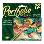 CRAYOLA PORTFOLIO OIL PASTELS Wet/Dry 12pc asstd