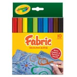 CRAYOLA FABRIC MARKERS 10pc