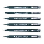 ARTLINE 230 DRAWING SYSTEM PEN Black 12 pc