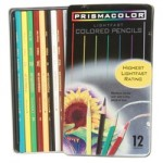 Prismacolor Soft Core Coloured Pencils Tin 12pc