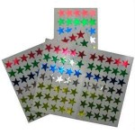GLITTER STARS - ADHESIVE Silver 150pc