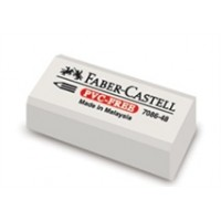 Faber Castell ERASER White Plastic Small 30pc
