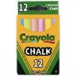 CRAYOLA CHALK BOARD CHALK COLOURED 12pc