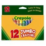 CRAYOLA JUMBO CRAYONS 12s