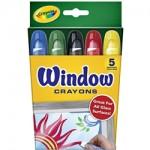 CRAYOLA WINDOW GLASS CRAYONS 5pc