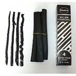 CHARCOAL NATURAL WILLOW 12-14mm 4pc