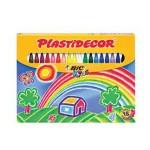 PLASTIDECOR CRAYONS 18 asstd