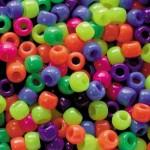 PONY BEADS NEON PLASTIC