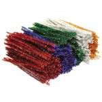 PIPE CLEANERS CHENILLE STEMS Tinsel Assort