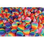 POM POMS Rainbow Asstd Sizes 300pc asstd