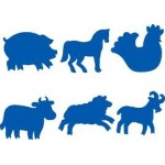 PAINT STAMPERS Farm Animals 6pc